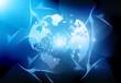 Earth & fiber optics..