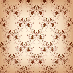 Vintage seamless with damask elements.