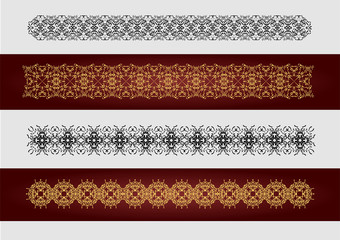Collection of Ornamental Rule Lines in Different Design styles.