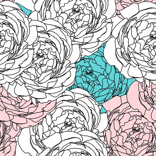 Flower pattern seamless, Eps 10 - 65987519