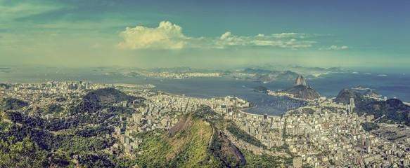 Rio de Janeiro vintage panorama, Brazil