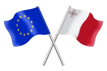 Flags : Europe and Malta