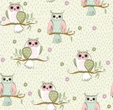 Fototapety cartoon owls
