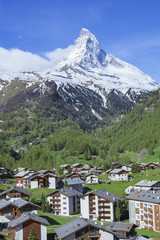 Zermatt and Mountain Matterhorn