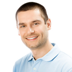 Portrait of happy smiling man, isolated