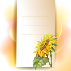 Sunflower frame background