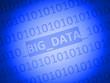 canvas print picture - big data...