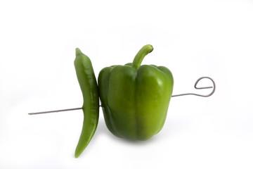 Grüner Gemüsespieß