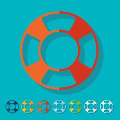 Flat design: lifebuoy