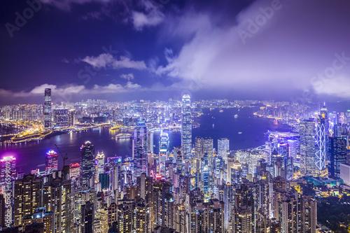 Fotobehang Hong-Kong Hong Kong, China City Skyline