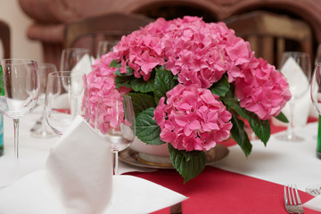 Boquet on arranged table
