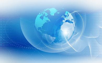 Abstract tech background with globe..