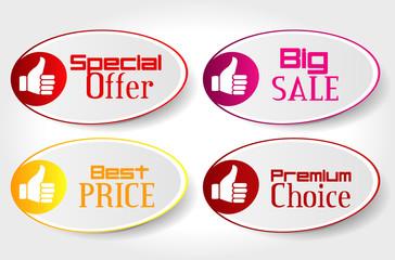 4 stickers sale
