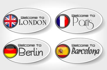 sticker Welcome city