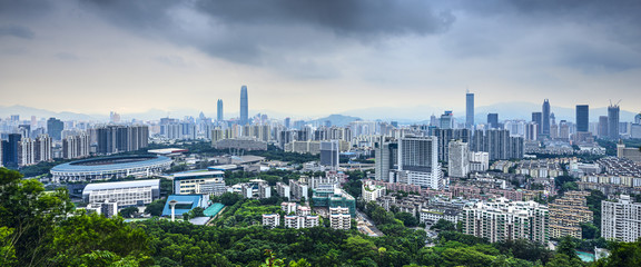Shenzhen, China Panorama