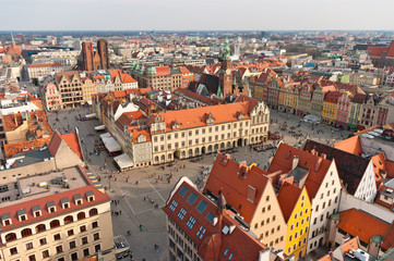 Old town square in Wroclaw, Poland