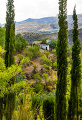 View in the Alpujarras Mountains, Granada, Andalusia, Spain