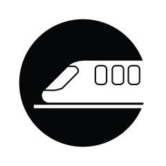 train  symbol icon vector