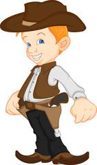 boy wearing western cowboy costume