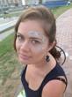 лицо девушки, аква макияж
