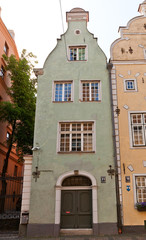 Green Brother house (XVII c.) of Three Brothers complex in Riga