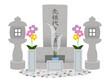 葬儀・仏事イラスト_墓石