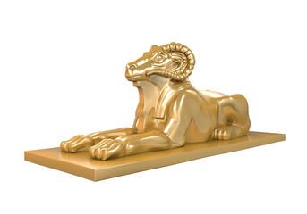 Egyptian Ram Headed Sphinx Statue