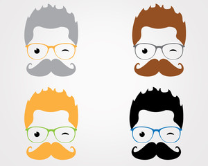 Cool Moustaches Geek