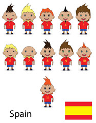 Spain team football. Raster