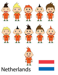 Football team of the Netherlands. Raster
