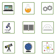 Icons for education on white #4 Raster