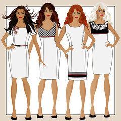 Collection of women's dresses D