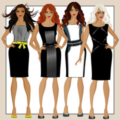 Collection of women's dresses B