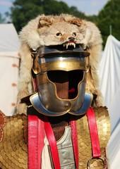 Römerrüstung mit Wolfsfell