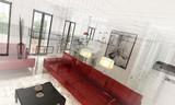Appartamento, Rendering 3d progetto, interni - 65995111