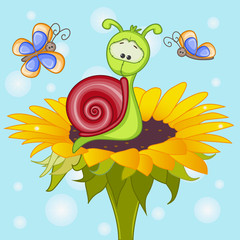 Snail on the flower