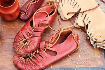 Werkstatt eines römischen Schuhmachers,Detail
