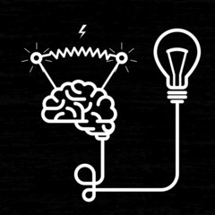 Invention - electricity of brain, light bulb