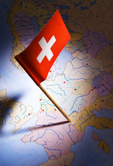 switzerland on europe map