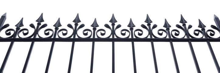 Schmiedeeiserner Zaun als Freisteller