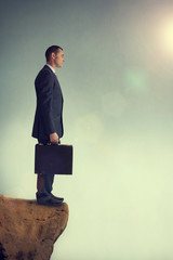 businessman at an impasse