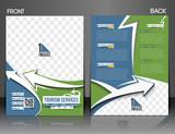 Travel center brochure, flyer, magazine cover & poster template