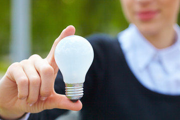 bulb in the hand