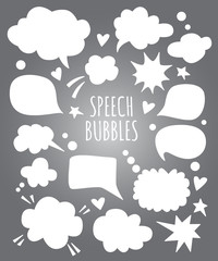 Vector speech bubbles ans thought clouds forms