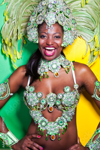 Foto op Canvas Carnaval Brazilian Samba Dancer