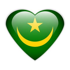 Mauritania flag button.