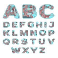 neon prism alphabet