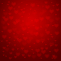 Background with hearts, vector