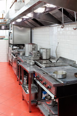 Typical restaurant kitchen