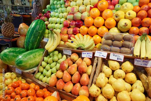 Papiers peints Au marche Fruits on a farm market